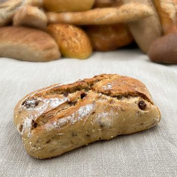 Pain Grand Large (Farine de blé et orge Malté), abricot, figue, noisette et graines - Boulangerie Cornuault - Mougon