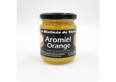 Miel aromatisé à l'huile essentielle d'orange biologique