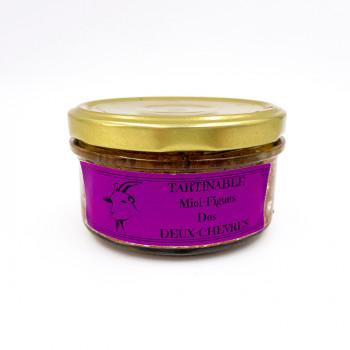 Tartinable à la viande de chèvres miel et figue des Deux Chèvres issue d'un élevage raisonné des Deux-Sèvres (79)