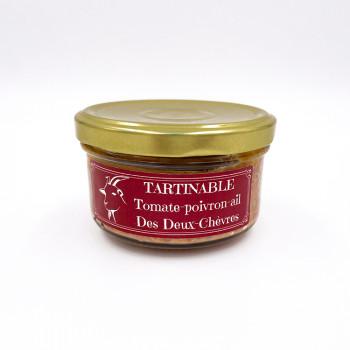 Tartinable à la viande de chèvre tomates poivron ail des Deux Chèvres issue d'un élevage raisonné des Deux-Sèvres (79)