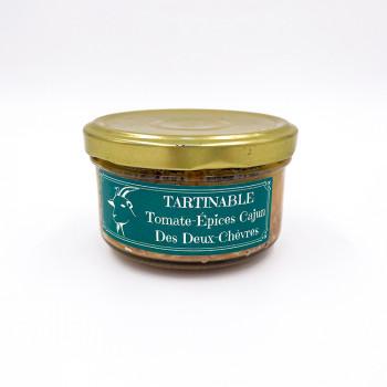 Tartinable à la viande de chèvre tomates Épices cajun des Deux Chèvres issue d'un élevage raisonné des Deux-Sèvres (79)
