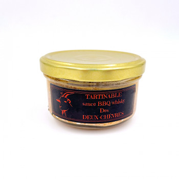 Tartinable à la viande de chèvre sauce BBQ-Whisky des Deux Chèvres, issue d'une élevage raisonné des Deux-Sèvres (79)