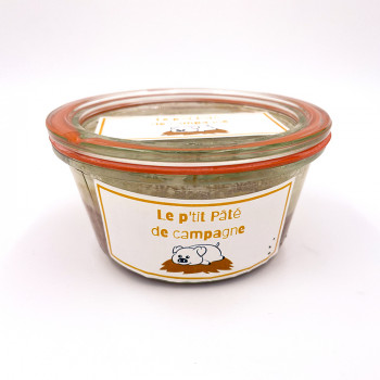 Pâté de campagne en bocal réutilisable issue d'un élevage raisonné de porc des Deux-Sèvres (79)