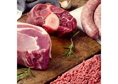 Colis de 3kg de viande de porc, Escalope, Rôti, Sauté, issue d'un élevage raisonnée des Deux-Sèvres